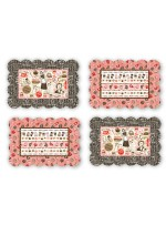 """Scalloped Placemats by  poorhouse designs 12.5""""x18.5"""""""