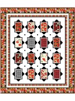 "Picturesque Blooms Quilt by Wendy Sheppard /75.5""x87.5"""