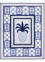 "Pineapple Blues Quilt by Marinda Stewart /42""x54"""