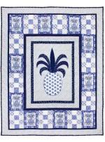 "Pineapple Blues Quilt by Marinda Stewart /42""x54"""