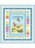 "Playful Pixies Quilt by Wendy Sheppard /51-1/2""x56-1/2"""