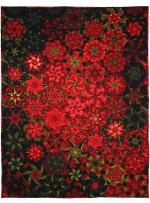 "Poinsettia Millefiori Quilt by Marinda Stewart  /44""x59"""