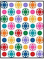 "Polka Party Hashdot Quilt by Charisma Horton /74""x86"""