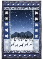 """Prancing Deer Quilt by Marinda Stewart /41""""x60"""""""