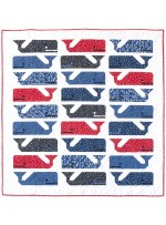 "Preppy The Whale Quilt  by Elizabeth Hartman /47""x50"""