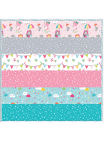 Puddle Play Cupid - MINKY Strip Quilt /58x58""