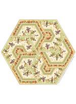"""Triangle Frenzy Hexagon - Pumpkin Farm Quilt by Triangle Frenzy 32""""x37"""""""