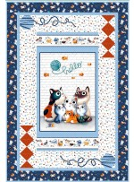 "Purrfectly Precious Quilt by Natalie Crabtree /43""x63"""