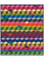 """Tumbling Blocks Quilt by Marsha Evans Moore /45-3/4x53-3/4"""" - instructions coming soon"""