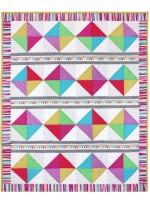 "Rainbow Girls crib Quilt by Marinda Stewart /36""x45"""
