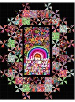 """Grand Central Rainbows and Sunshine Quilt by Swirly Girls Design - 60x78"""""""