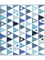 """Equal Rights Rhythm and Blues Quilt by Swirly Girls Deisgn - 53""""68"""""""