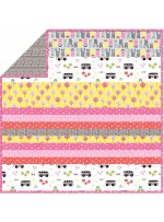 Road Trip - Minky Strip Quilt /58x58""