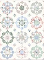"""Desert Charm Rosy Quilt by Julie Burton of Running Stitch Quilt - 60""""x80"""""""