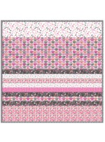 Sassy Cats Pink -MINKY Strip Quilt /58x58""