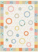 """ring toss - sew seeds of love quilt by swirly girls design /48""""x64"""""""