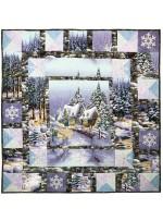 "Snow Chateau Quilt by Marinda Stewart /50""x50"""