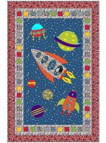 "Space Trip Brite Quilt by Sue Marsh of wpcreek /40""x63"""