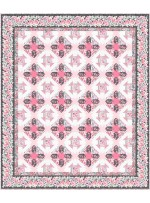 "bella rosa -pink quilt by project house 360 65""x77""-pattern available in july, 2021"