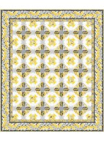 "bella rosa -yellow quilt by project house 360 65""x77""-pattern available in july, 2021"
