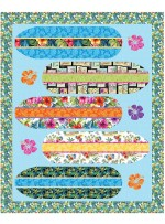 "Surfin' USA Quilt by Natalie Crabtree / 60""x74"""