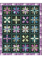 "Strata This Way & That basil Quilt by Heidi Pridemore /61""x75"""
