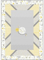 """Panel pop to the moon and back Quilt by Swirly Girls Design 44""""x62"""""""