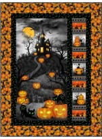 """Trickster - Trick or Treat Quilt by Project House 360 40""""x53 - Free Pattern Available in June, 2022"""