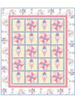 "triple Scoop Quilt by Natalie Crabtree /62""x73"""