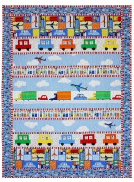 "Trucks, Cars & Planes Quilt by Marinda Stewart /41""x54""- Instructions coming soon"