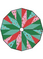 """Over Under Tree Skirt by Swirly Girls Disign 48"""" Diameter"""