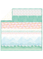 "Unicorn Parade - Strip Quilt /58""x58"""