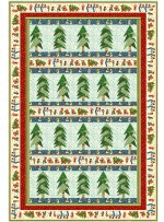 """Lovely Woods - Vintage Christmas Quilt by Tamarinis 20""""x39"""""""
