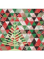 """Tinsel Tree Quuilt by Everyday Stitches 70""""x73"""""""