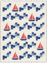 """Sailing School- Vitamin Sea Quilt by Canuck Quilter Designs /50.5""""x67"""""""