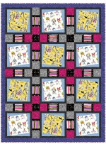 "Walk around Town Quilt by Heidi Pridemore /54""x72"""