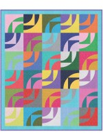 """Waves of Color Quilt by heidi Pridemore /54""""x64"""""""
