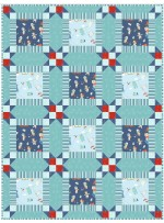 "Wee Ones Blue Quilt by Christine Stainbrook /36""x48"""