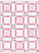 "Wee Ones Pink Quilt by Christine Stainbrook /36""x48"""