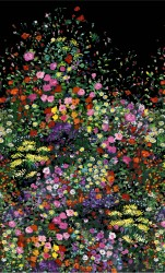"""BOWERS OF FLOWERS -PANEL -24"""" repeat"""
