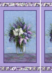 "BLOOMING VASE - 24"" repeat Panel"