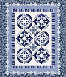 NEW BEGINNINGS - BLUE QUILT KIT