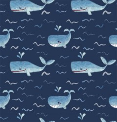 WHALES on MINKY- Contact your account manager to purchase this item