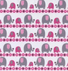 MARCHING ELEPHANT on MINKY- Contact your account manager to purchase this item