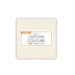 CREAM COTTON COUTURE CHARMS- 42 pcs