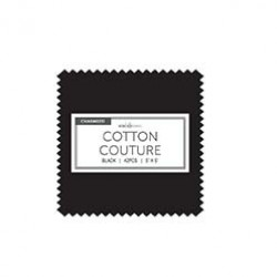 BLACK COTTON COUTURE CHARMS- 42 pcs - comes in a case of 10