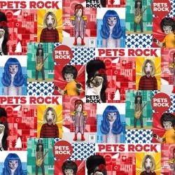 PETS ROCK PATCH ON MINKY