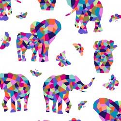 ELEPHANT MOSAIC ON MINKY