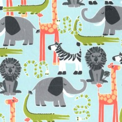 SAFARI FRIENDS on MINKY- Contact your account manager to purchase this item