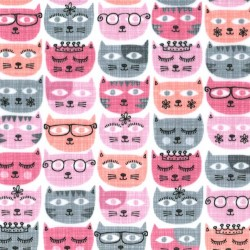 SASSY CATS on MINKY - contact your account manager to purchase this item